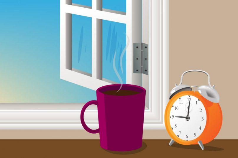 Despertar a les 9h del matí amb un café i un massatge.